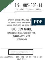 TM 9-1005-303-14 Winchester 1200 Military Shotgun