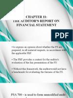 Chapter 11 (Martinez's Report)