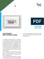 Istruzioni Cronotermostato Bpt Th300