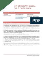 Ementa-técnica Vocal e Canto Coral