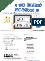 Principio Alfabetico Conciencia Fonemica Asociar Fonema-grafema P-L-N-S Mayusculas 2-1