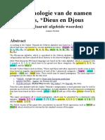 De etymologie van de namen Diaus, Dieus en Djous