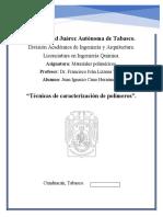 Técnicas de caracterización de polímeros