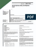 NBR EB 02185 - Grade de barras retas, de limpeza manual
