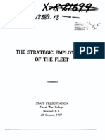 Strategic Employment of the Fleet Naval War College 1937