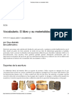Vocabulario. El libro y su materialidad _ CECLI
