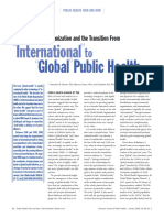 Brown (2006) From International to Global Health Transition