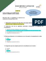 EVALUACIÓN INTERMEDIA DE GEOMETRÍa examen