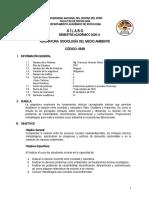SILABO SOCIOLOGÍA DEL MEDIO AMBIENTE 2020-II