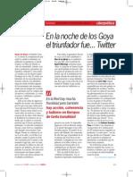 En la noche de los Goya, el triunfador fue.... Twitter