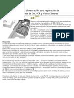 Fuente de alimentación para reparación de mecanismos de CD, DVD y VideoCamaras