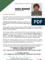 Lettre de candidature - Michèle Fournier-Armand