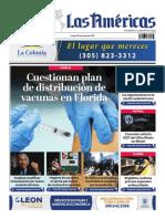 Portada 25 de Enero de Diario Las Américas.