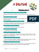 Cuestionario 1 Derecho laboral.
