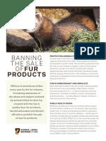 Fur Sale Ban Factsheet