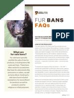 Fur Sale Ban FAQs