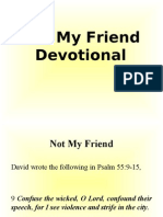 Not My Friend (Devotional)