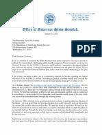 Gov. Sisolak Letter to HHS re