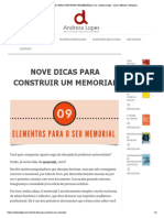 NOVE DICAS PARA CONSTRUIR UM MEMORIAL _ Dra. Andreza Lopes - Coach _ Mentora _ Terapeuta