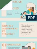 TYPES OF COMMUNICATIVE STRATEGIES