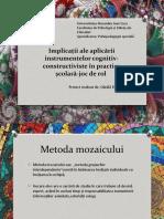 Implicații Ale Aplicării Instrumentelor Cognitiv-constructiviste În Practica Școlară-joc -Dănilă Florina