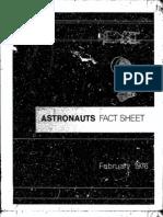 Astronauts Fact Sheet February 1976