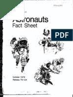 Astronauts Fact Sheet 1979