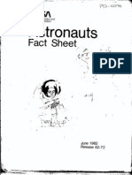 Astronauts Fact Sheet June 1982