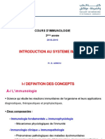 Introduction Au Systeme Immunitaire 2018-2019 PDF