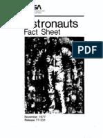 Astronauts Fact Sheet November 1977
