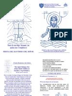 Eucaristía Bautismo de Jesús [Folleto]