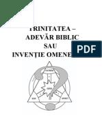 Trinitatea -Adevar Biblic Sau Inventie Omeneasca