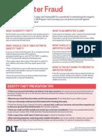 DLT Unemployment Fraud Fact Sheet