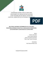 RELATÓRIO CONTENDO EXPERIMENTOS DE CARGA E DESCARGA DE CAPACITORES, LEI DE LENZ E FARADAY E MOTO ELÉTRICO DE CORRENTE CONTÍNUA
