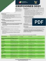 CONVOCATORIA PREINSCRIPCIONES HIDALGO 2021