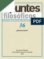 Democracia Revista Apuntes Filosoficos