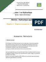Chapitre 4 - Accessoires, robinetterie