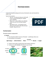 NOTES - PLANT ORGAN SYSTEMS
