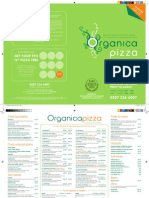 Organica Pizza Company Menu 2011