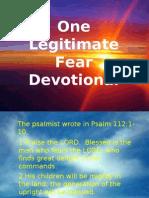 One Legitimate Fear (Devotional)