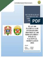 PLAN DE PATRULLAJE INTEGRADO DEL DISTRITO DE MIRAFLORES