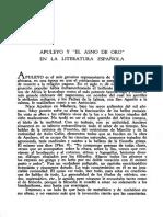 Apuleyo y El Asno de Oro en La Literatura Española (Cortés, 1958)