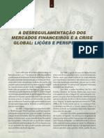 A Desregulamentacao Dos Mercados e a Crise Global