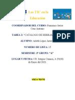 Catalogo de Herramientas. ARLETH LOPEZ ANTONIO