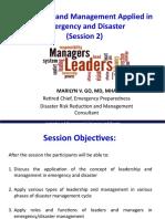 2. Leadership Mgt. Session 2