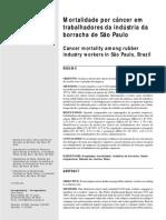 Mortalidade por câncer em trabalhadores da indústria da borracha de São Paulo