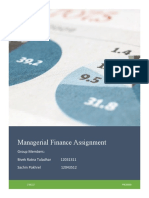 Managerial Finance Assignment
