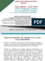1. EL TITULO PRELIMINAR DE LA LEY PROCESAL DEL TRABAJO LEY Nº 29497