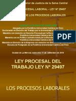 4. LOS PROCESOS LABORALES EN LA NUEVA LEY PROCESAL DEL TRABAJO LEY Nº 29497
