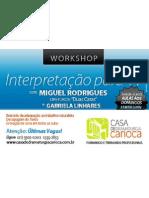 Workshop Miguel Rodrigues e Gabriela Linhares